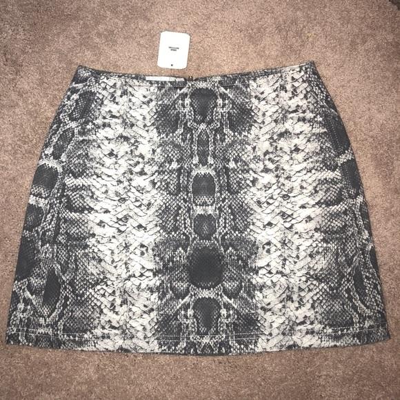 5eaf17f40b5d Urban Outfitters Skirts   Uo Snakeskin Print Mini Skirt   Poshmark